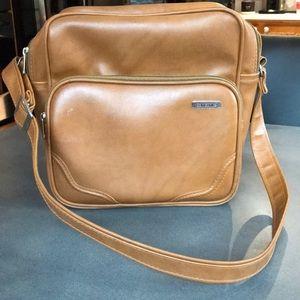 Vintage Samsonite tan luggage strap shoulder bag